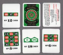 Collectible Vintage cards game Ruletti, gambling
